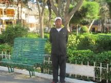 Chet at the park in Vilcabamba, Happy Anniversary!
