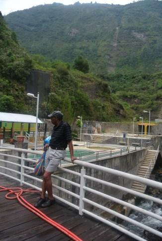 Chet at Salada thermal baths in Baños de Ambato