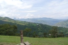 A view towards Tungurahua, an active volcano.