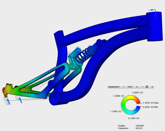 La imagen sirve para ilustrar la complejidad de formas en un cuadro de montaña y de paso como excelente ilustración de un trabajo de diseño asistido por computadora, El trabajo presente fue hecho con Autodesk Sim 360 por Jonathan Den Hartog, vea la página