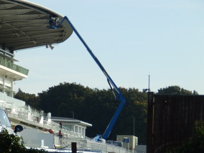 Fixing the stand at Epsom