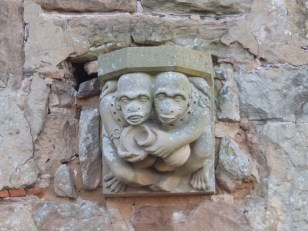 Stone corbel - Rufford Abbey