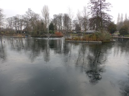 The pond at Arnot Hill Park