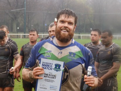 Man of the Match, sporting an excellent line in beards