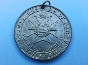 Derby Peace Medal - reverse