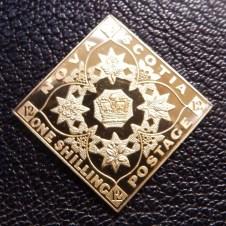 Nova Scotia 1/- stamp ingot