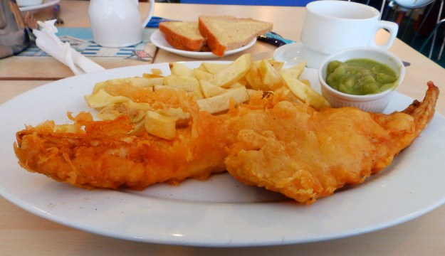 Haddock Special at the Dolphin Fish Bar, Sutton on Sea