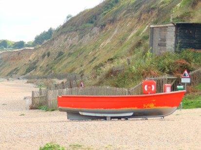 On Dunwich beach