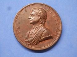 Isaac Newton Medallion