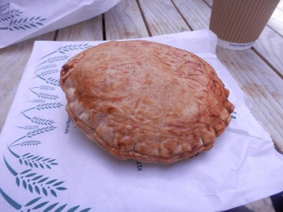 A large cheese pasty