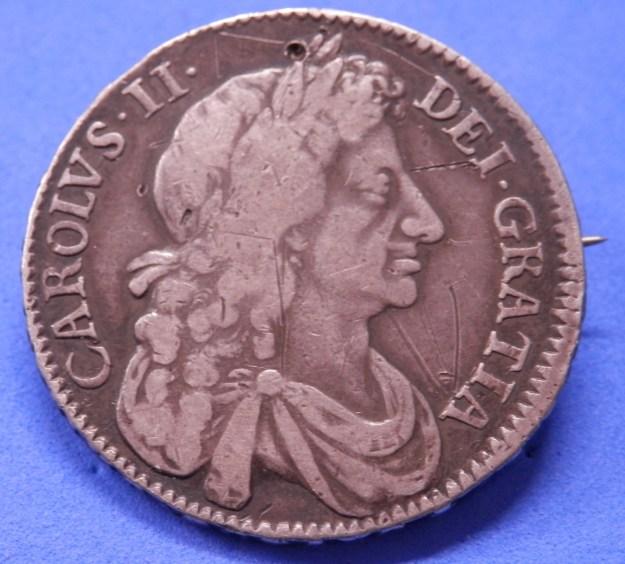 Half crown of Charles II