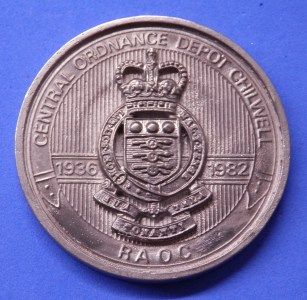 Medal for the closing of the Central Ordnance Depot 1982
