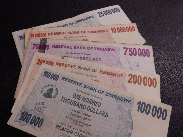Zimbabwe Hyper-inflation Money