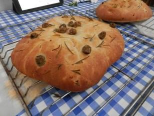 Ciabatta and olives