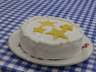 Christmas Cake - iced and ready to go