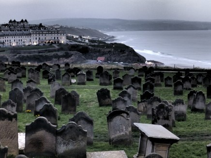 Graveyard at Whitby - can you see Dracula yet?