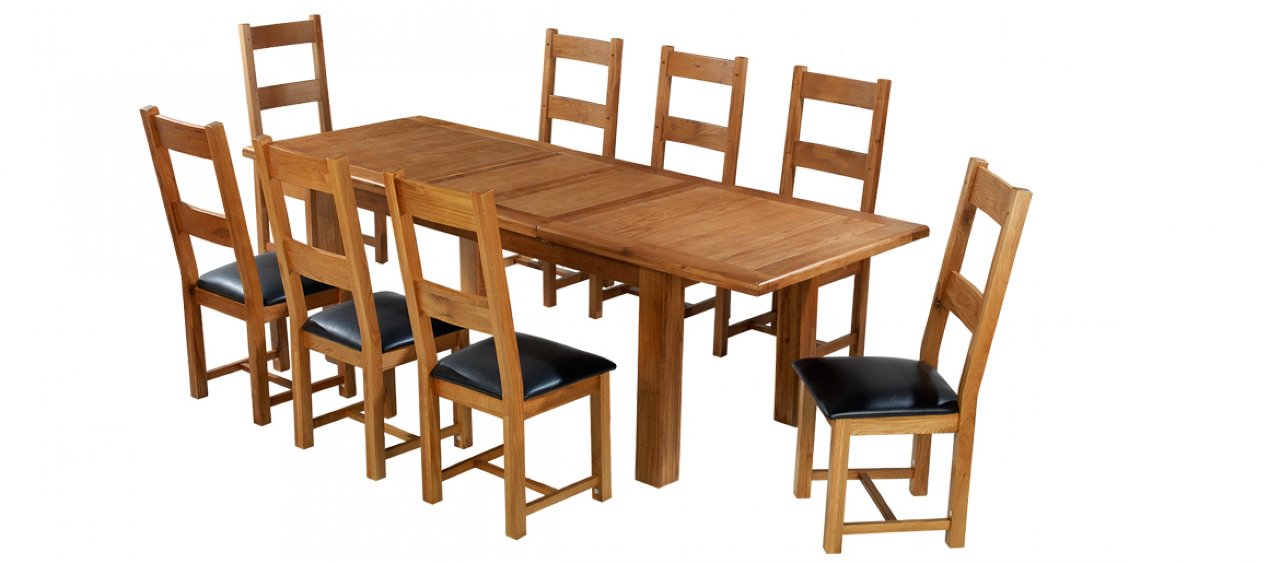 8 Chair Dining Set Barham Oak 180 250 Cm Extending Dining Table And 8 Chairs