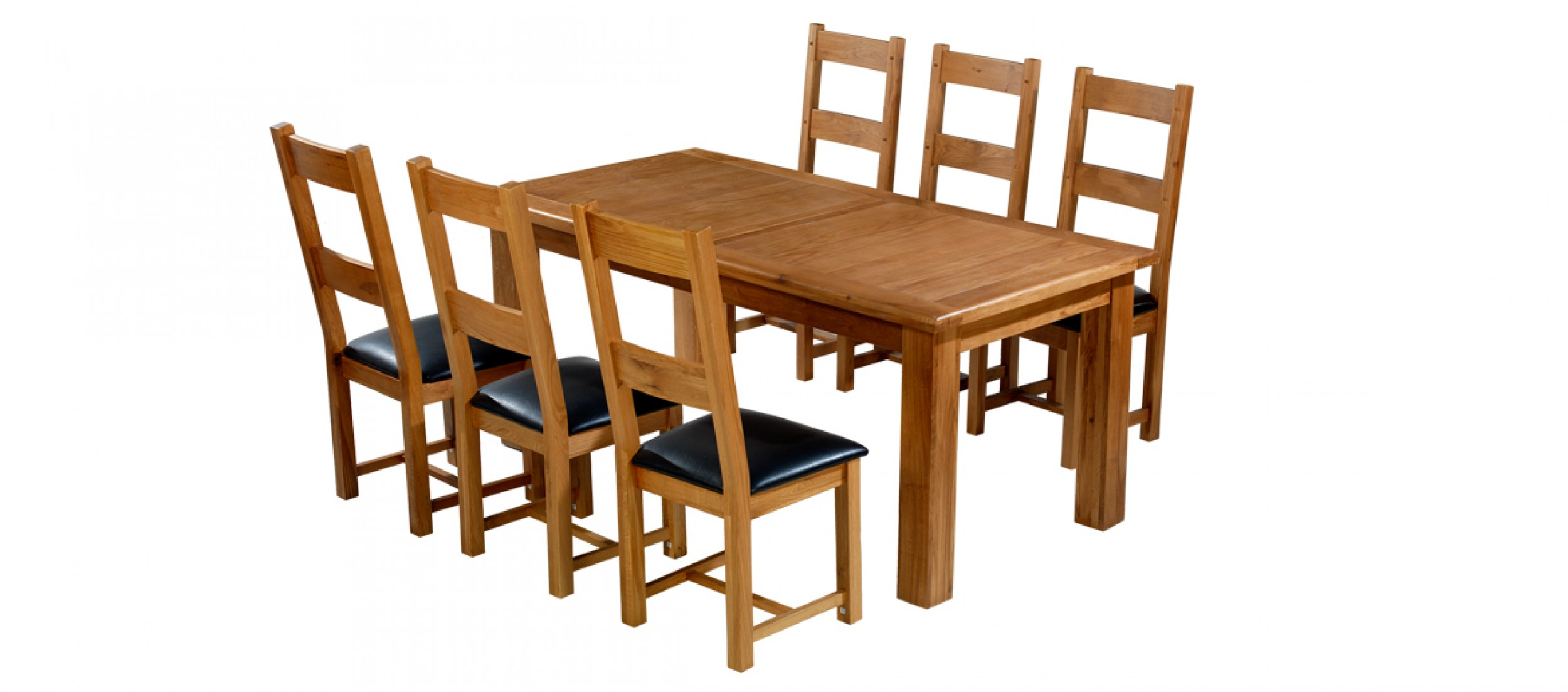 Dining Table And 6 Chairs Barham Oak 180 250 Cm Extending Dining Table And 6 Chairs