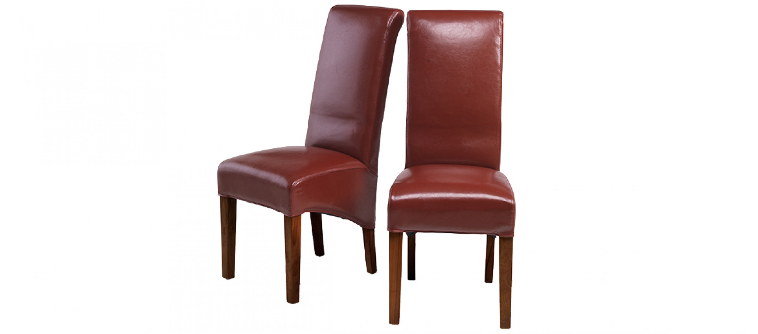 Cube Chairs Cube Bonded Leather Dining Chairs Red Pair
