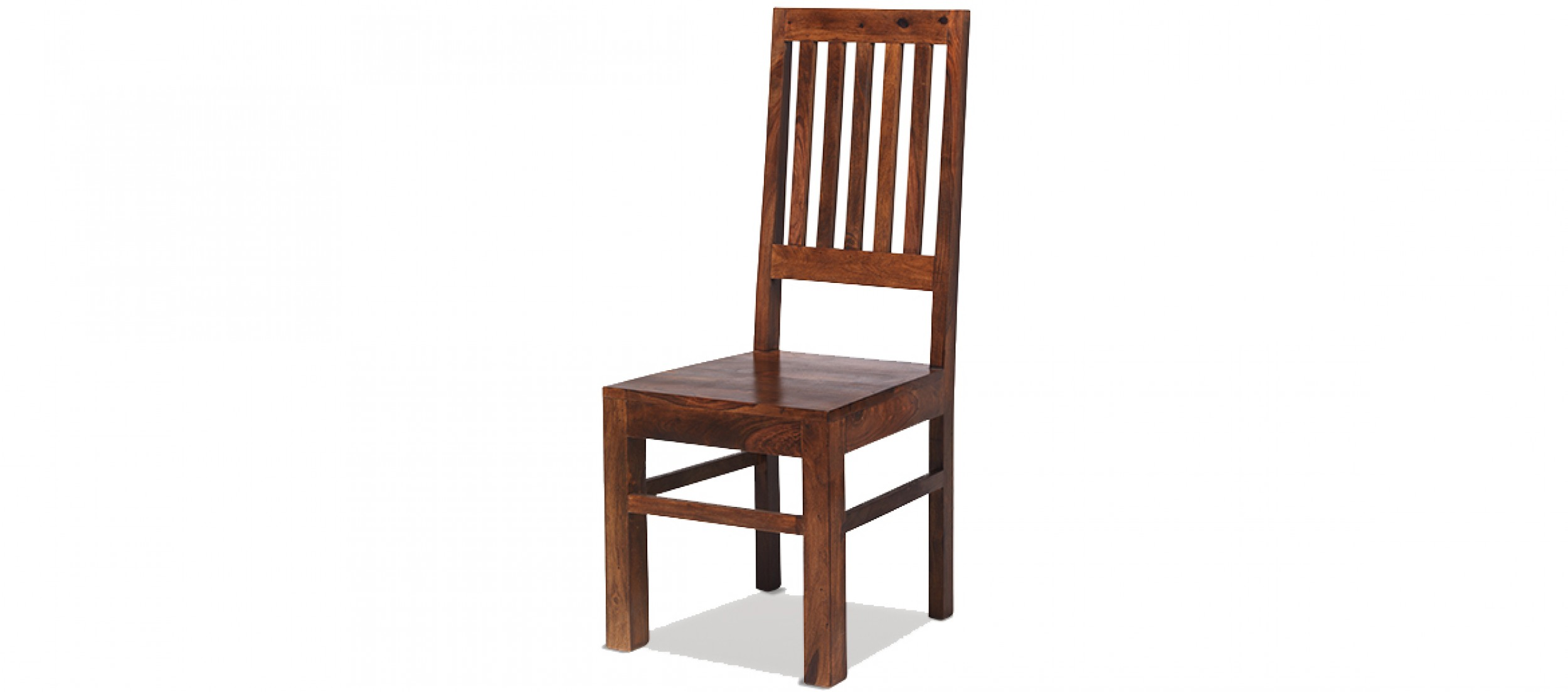 Standard Dining Chair Height Jali Sheesham High Back Slat Dining Chairs Pair