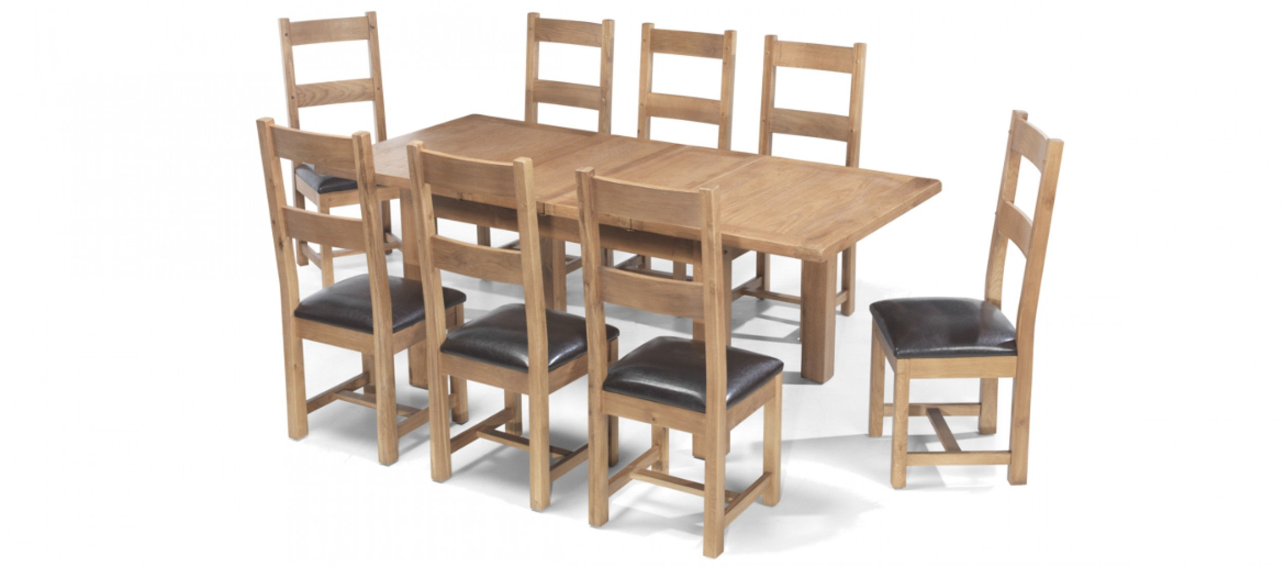 Dining Table 8 Chairs Rustic Oak 132 198 Cm Extending Dining Table And 8 Chairs