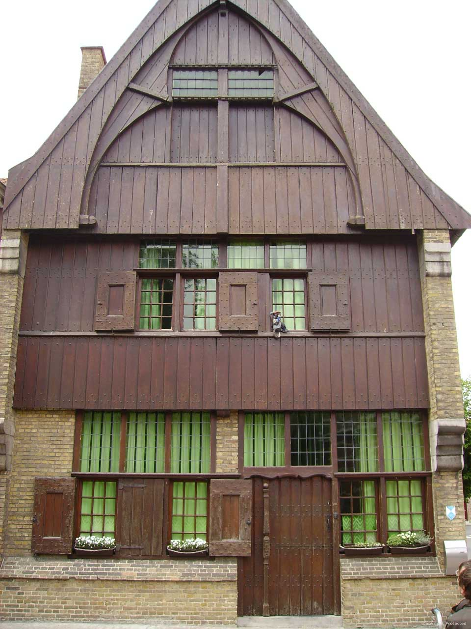 Oud Houten Huis Ieper Foto