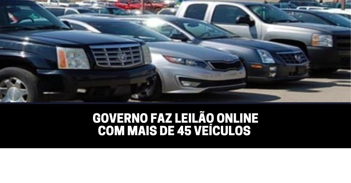Governo faz leilão online com mais de 45 veículos
