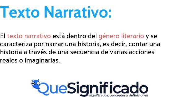 texto narrativo significado concepto y definicion