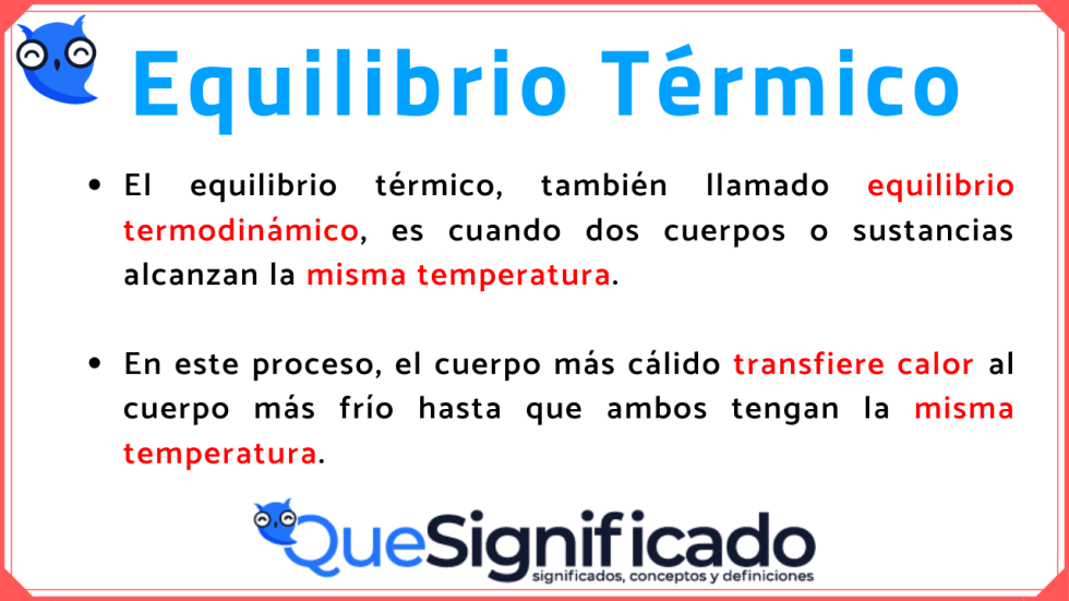 equilibrio térmico definición