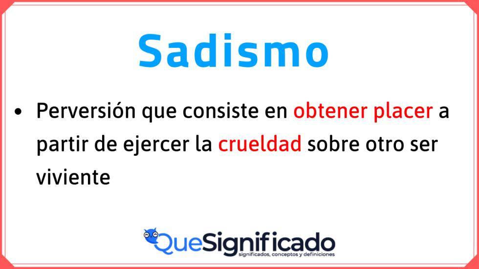 definición-de-sadismo