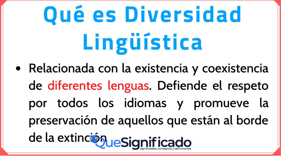 Significado de Diversidad Lingüística