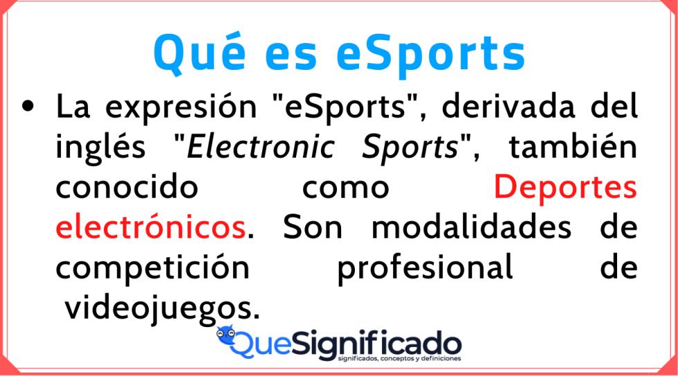 eSports Significado Historia