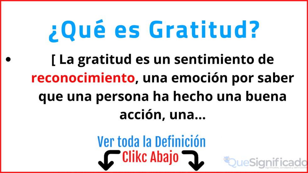 que es gratitud significado concepto definicion