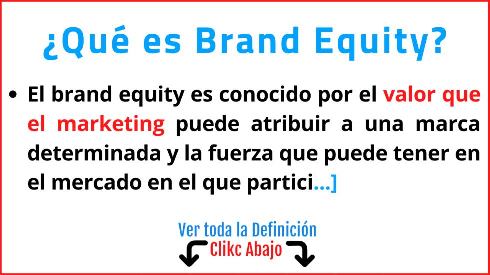 que es brand equity significado concepto definicion ejemplos