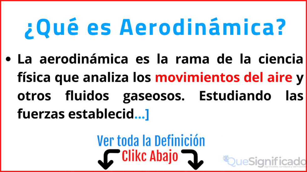 que es aerodinamica significado definicion ejemplos