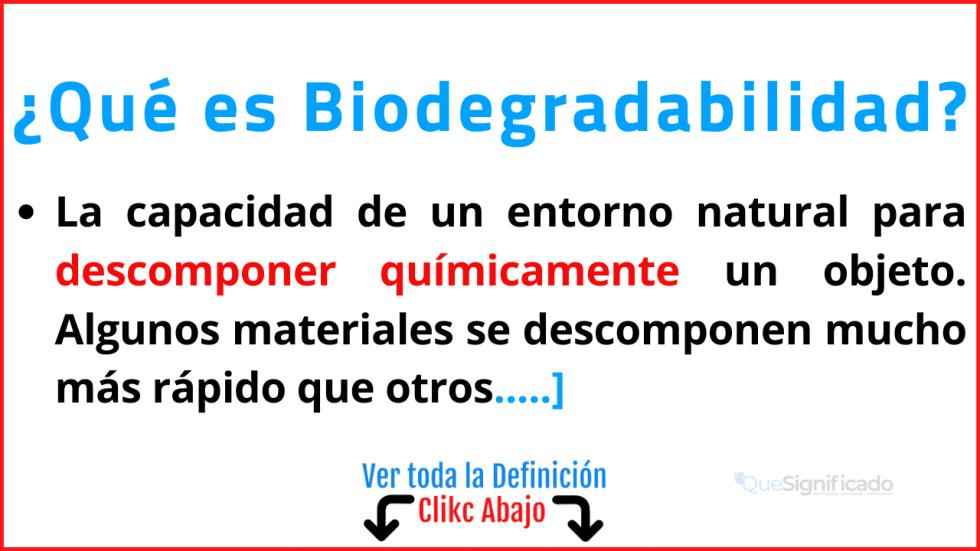 que es biodegradabilidad