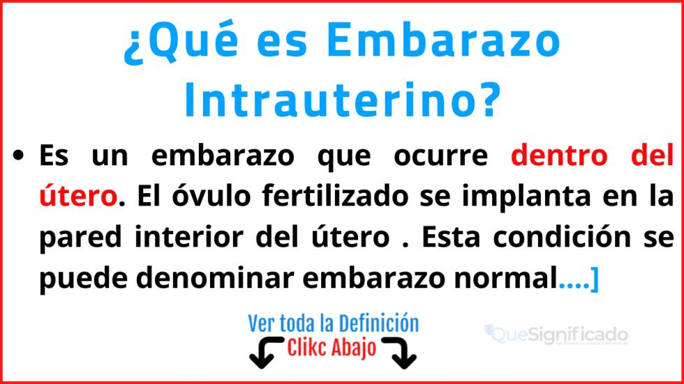 que es embarazo intrauterino
