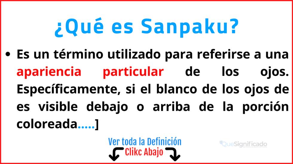 que es sanpaku