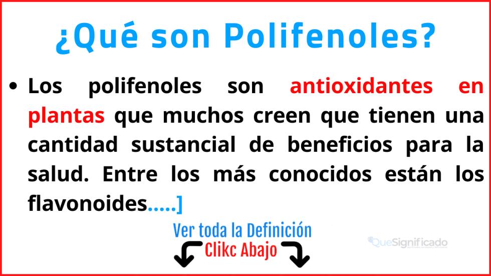 que son polifenoles