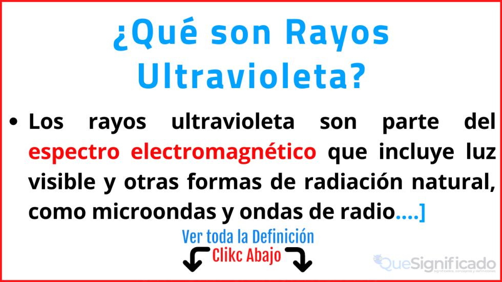 que son rayos ultravioleta