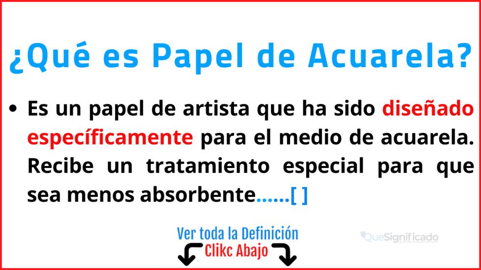 Papel de Acuarela