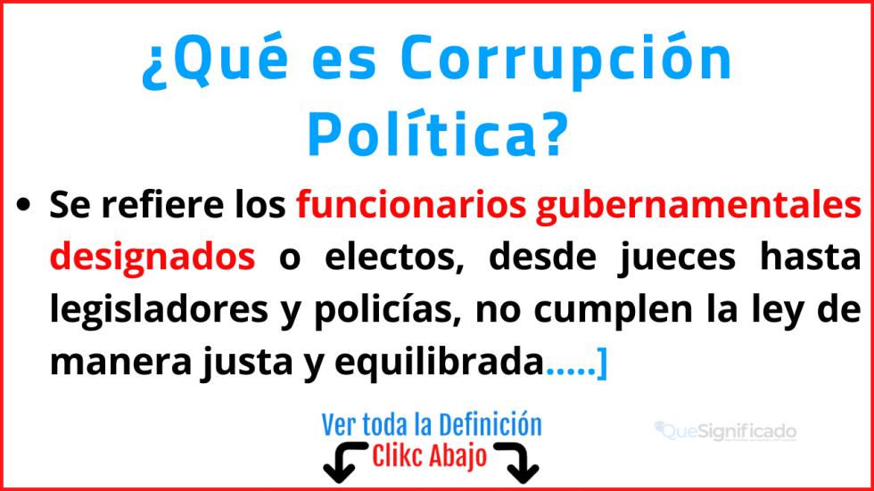 Qué es Corrupción Política