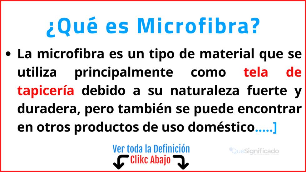 Qué es Microfibra
