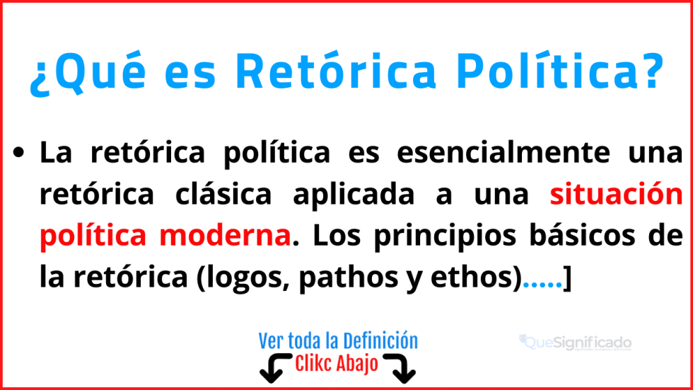 Qué es Retórica Política