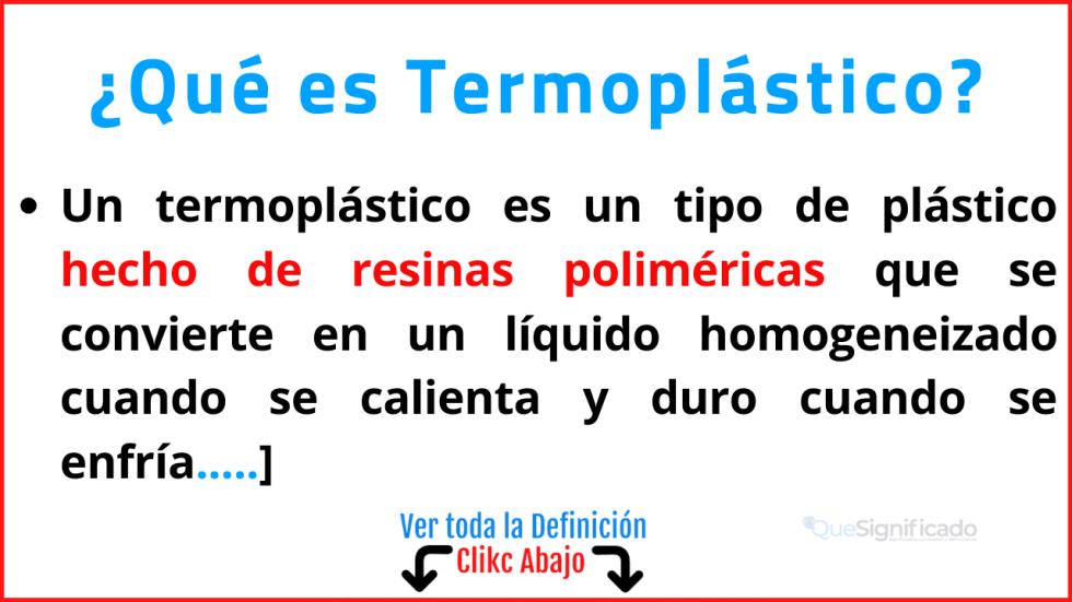 Qué es Termoplástico