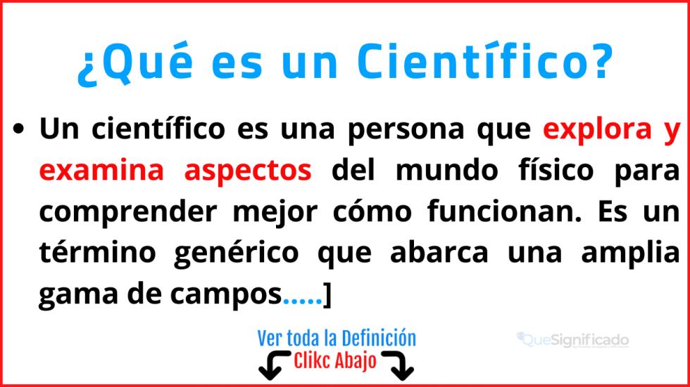Qué es un Científico
