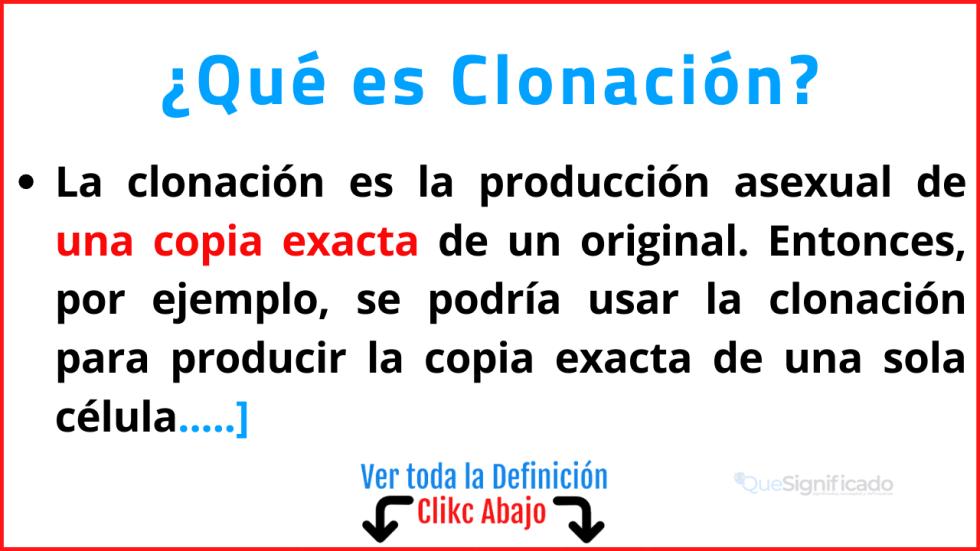Qué es Clonación