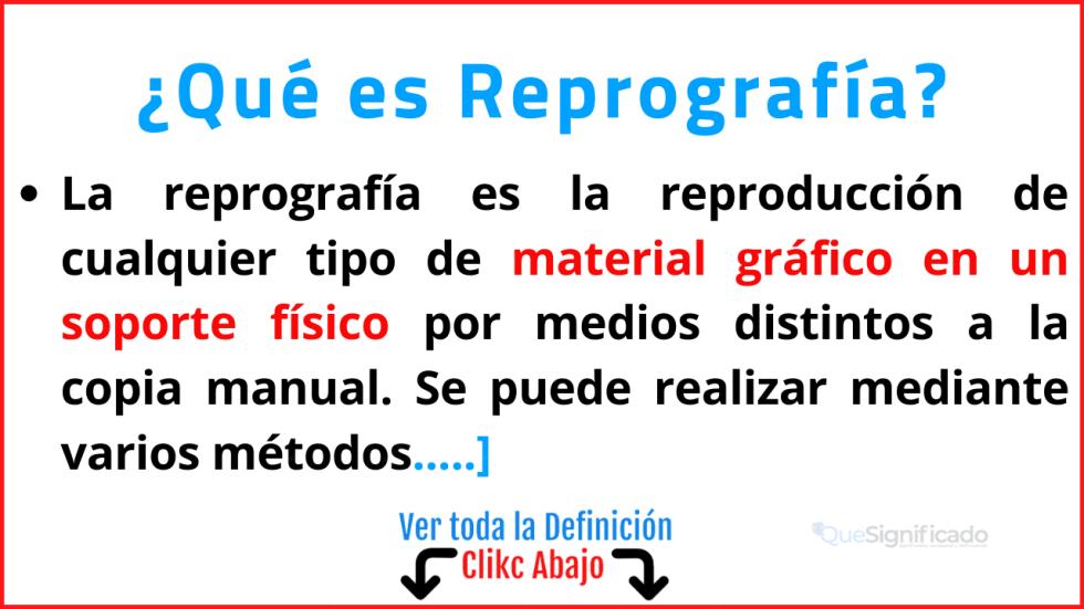 Qué es Reprografía