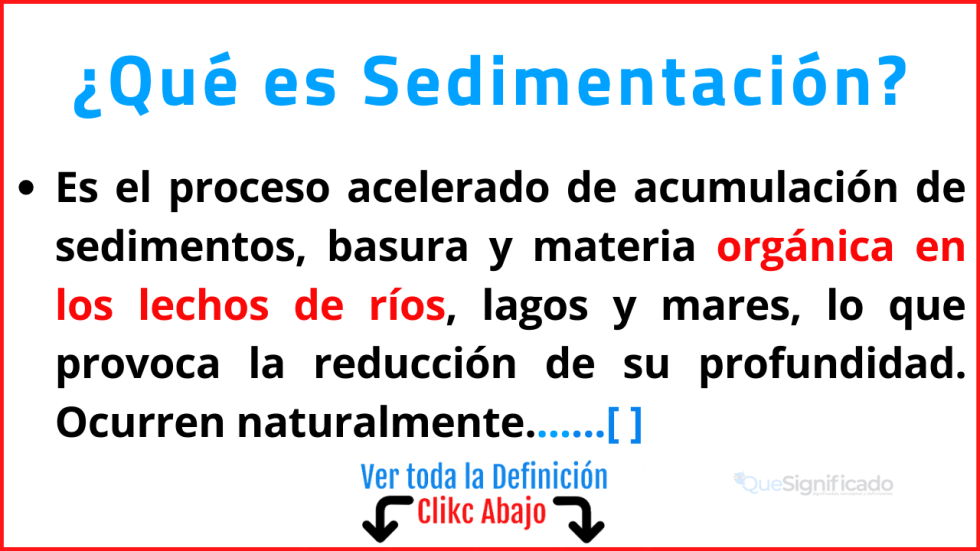 Qué es Sedimentación