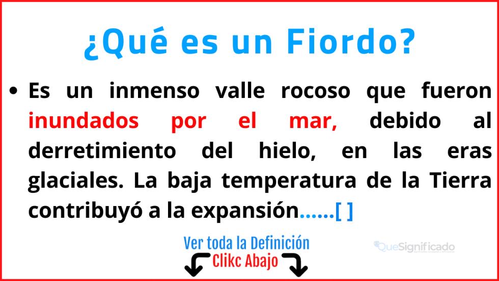 Qué es un Fiordo